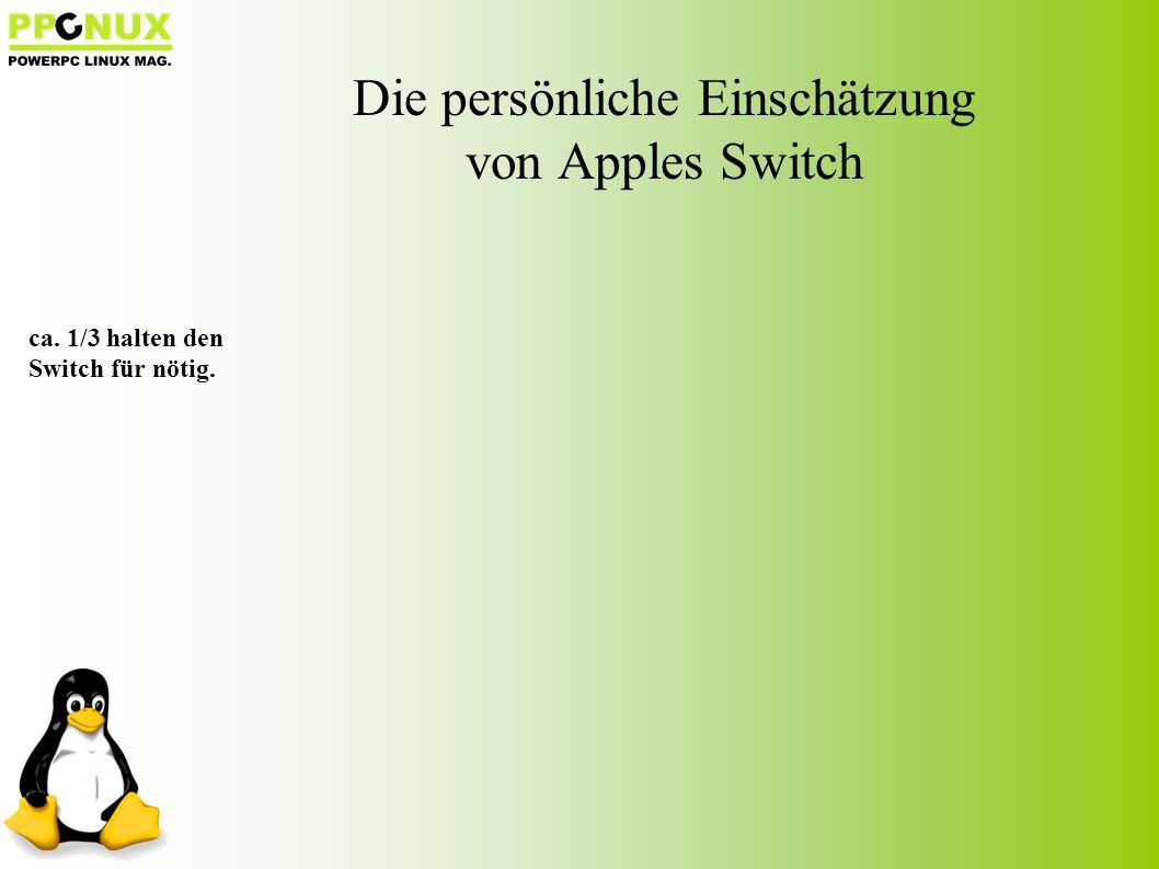 ca. 1/3 halten den Switch für nötig.