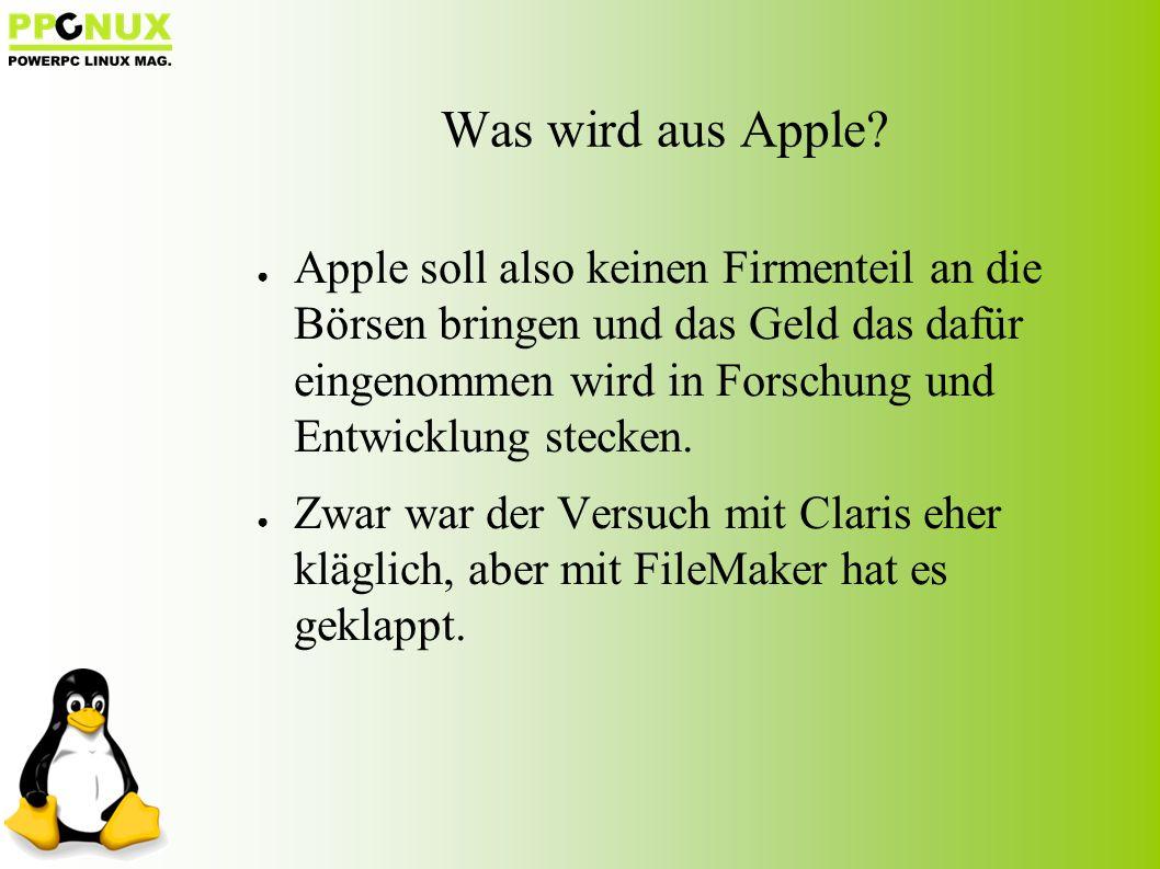 Was wird aus Apple.