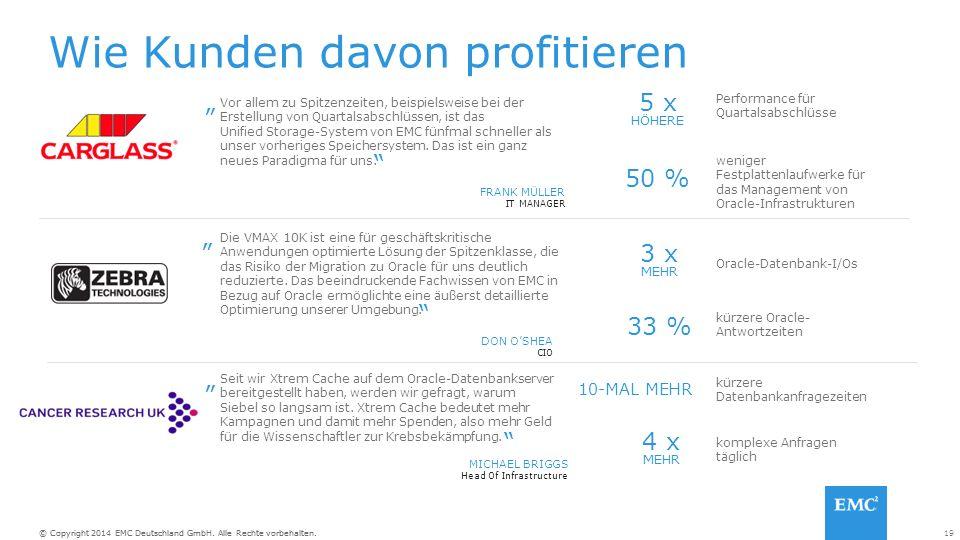 19© Copyright 2014 EMC Deutschland GmbH. Alle Rechte vorbehalten.