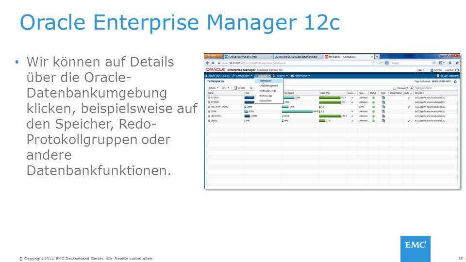 35© Copyright 2014 EMC Deutschland GmbH. Alle Rechte vorbehalten.