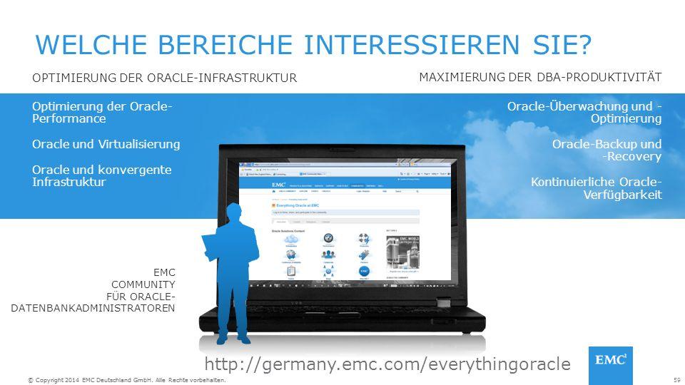 59© Copyright 2014 EMC Deutschland GmbH. Alle Rechte vorbehalten.