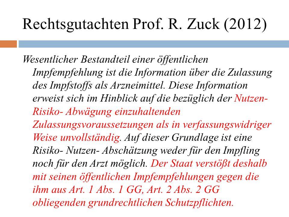 Rechtsgutachten Prof. R.