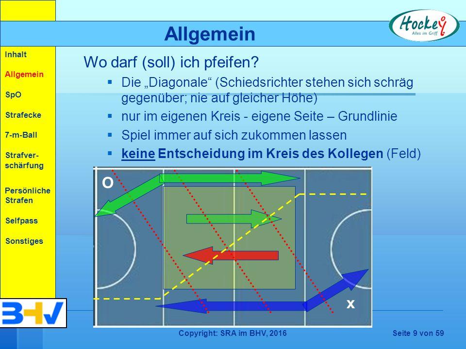 Copyright: SRA im BHV, 2016Seite 50 von 59 NEU (ab Feld 2015) Spieler dürfen den Ball überall auf dem Spielfeld in kontrollierter Weise und in jeder Höhe, auch über der Schulter, annehmen, anhalten, abwehren oder spielen, solange dies ungefährlich ist oder nicht zu gefährlichem Spiel führt.