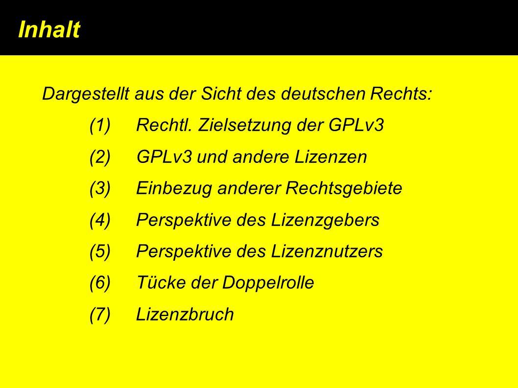 Dargestellt aus der Sicht des deutschen Rechts: (1)Rechtl.