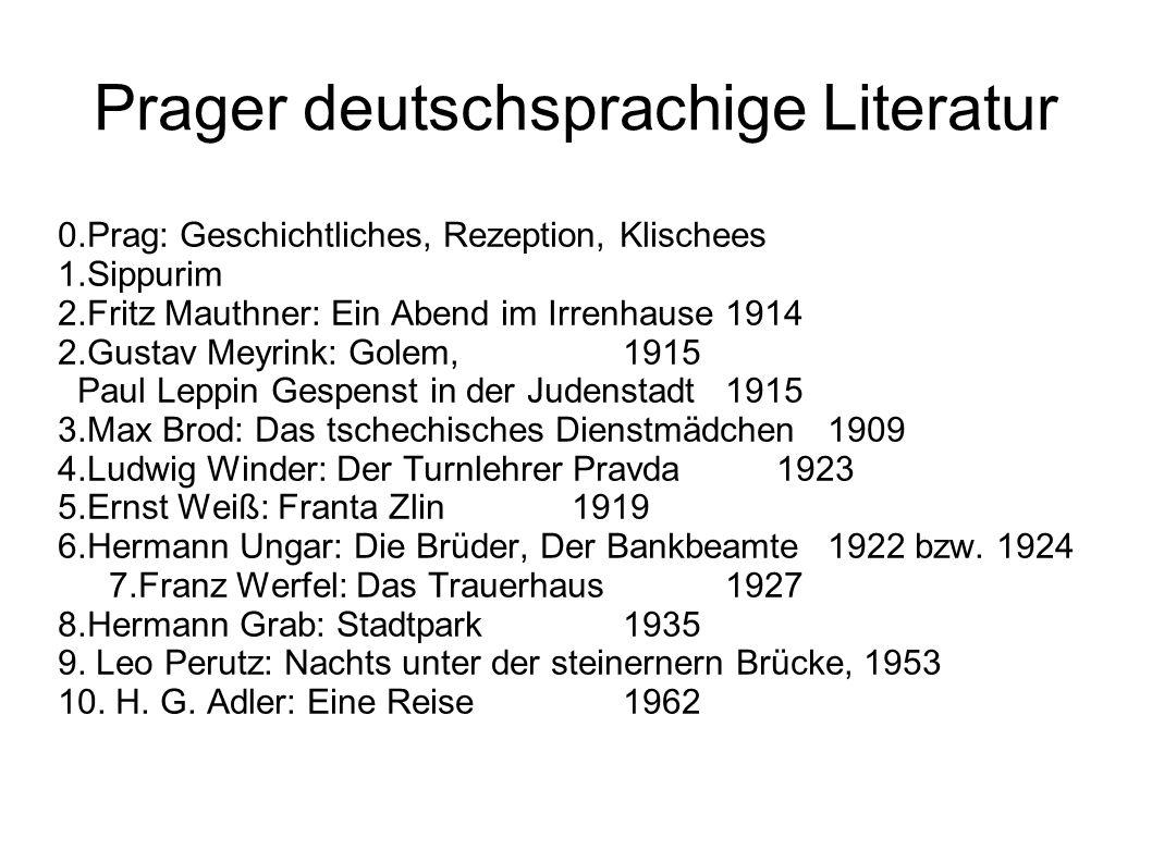 Literatur Brod, Max: Der Prager Kreis.Neudruck m.