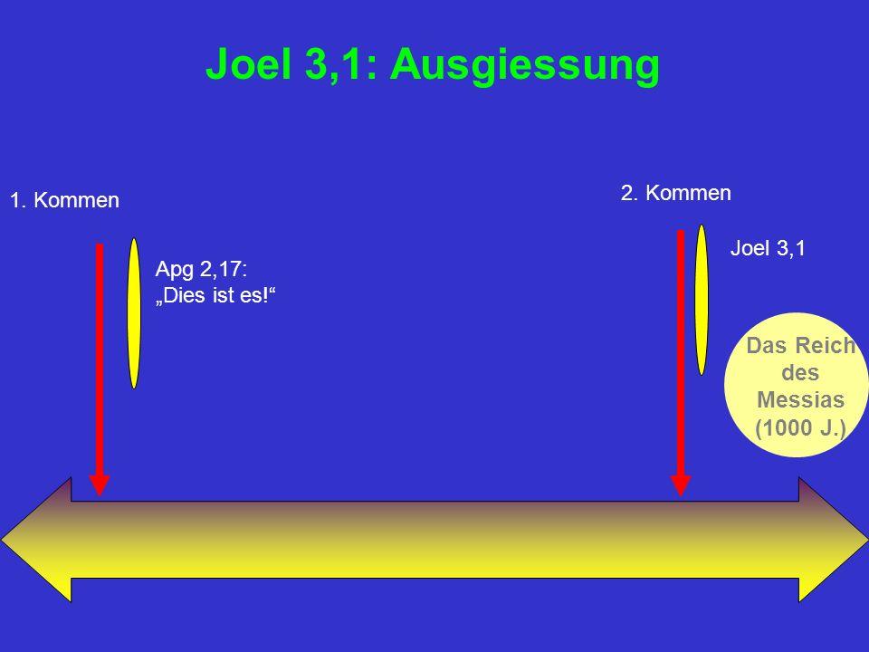 Joel 3,1: Ausgiessung Das Reich des Messias (1000 J.) 1.