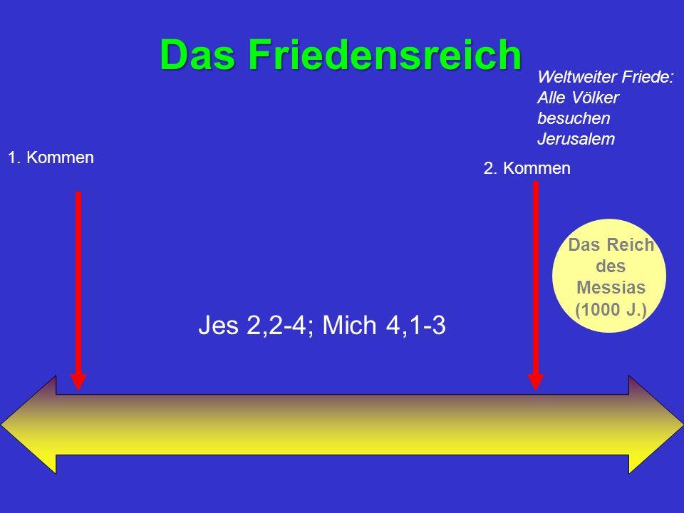 Das Friedensreich Das Reich des Messias (1000 J.) 1.