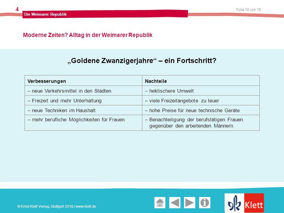 Geschichte und Geschehen Oberstufe Folie 10 von 15 Die Weimarer Republik 4 Moderne Zeiten.
