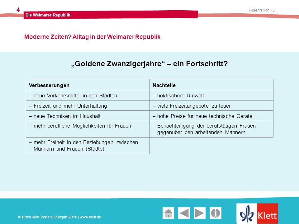 Geschichte und Geschehen Oberstufe Folie 11 von 15 Die Weimarer Republik 4 Moderne Zeiten.