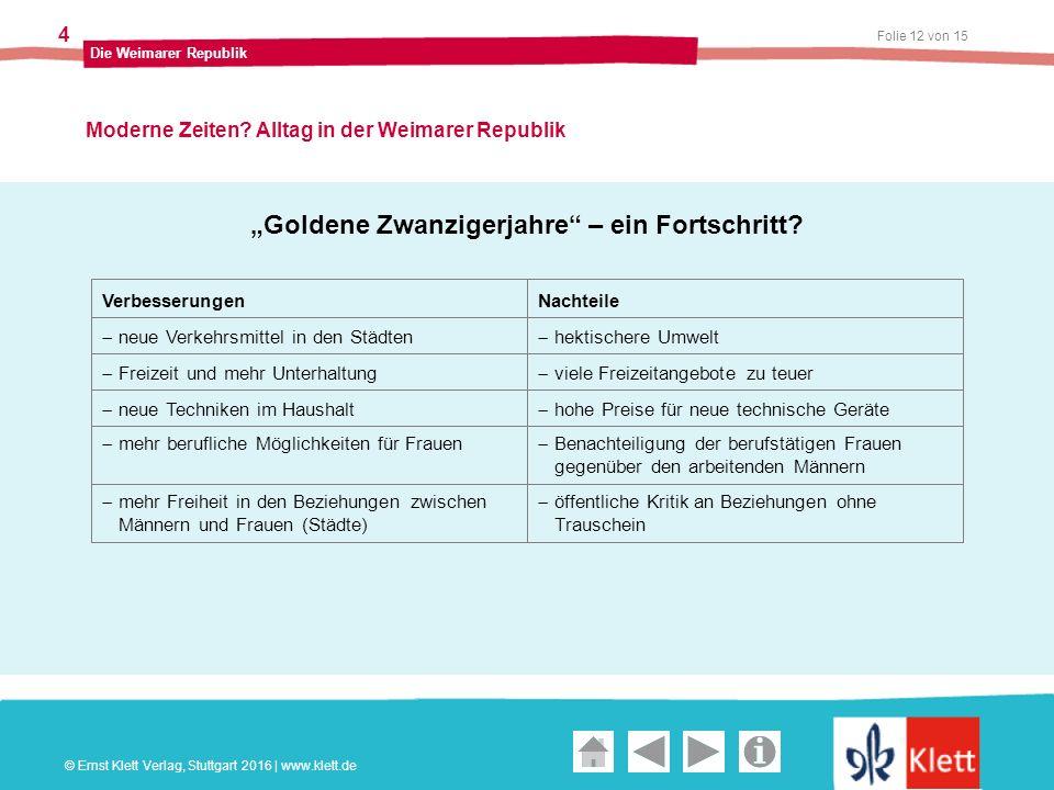 Geschichte und Geschehen Oberstufe Folie 12 von 15 Die Weimarer Republik 4 Moderne Zeiten.