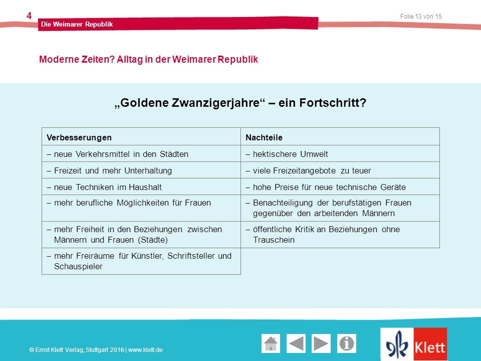Geschichte und Geschehen Oberstufe Folie 13 von 15 Die Weimarer Republik 4 Moderne Zeiten.