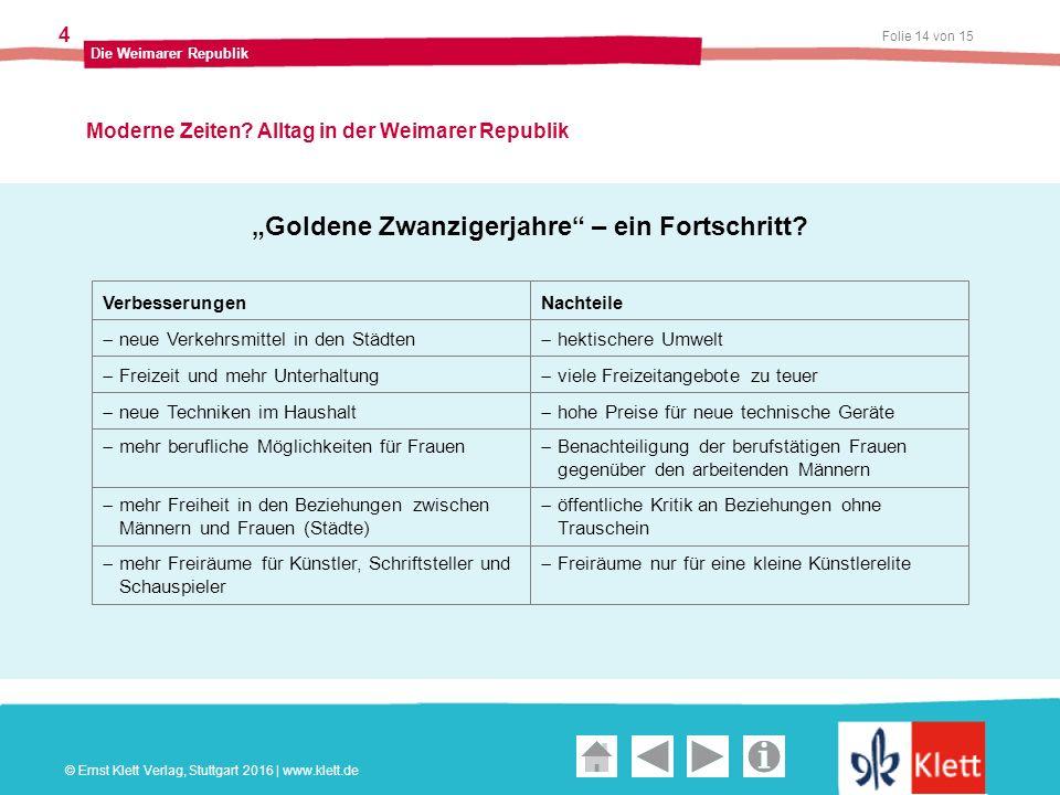 Geschichte und Geschehen Oberstufe Folie 14 von 15 Die Weimarer Republik 4 Moderne Zeiten.