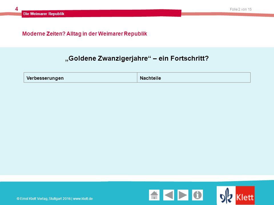 Geschichte und Geschehen Oberstufe Folie 2 von 15 Die Weimarer Republik 4 Moderne Zeiten.