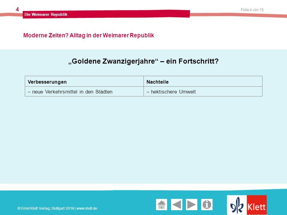 Geschichte und Geschehen Oberstufe Folie 4 von 15 Die Weimarer Republik 4 Moderne Zeiten.