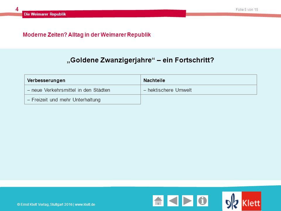 Geschichte und Geschehen Oberstufe Folie 5 von 15 Die Weimarer Republik 4 Moderne Zeiten.