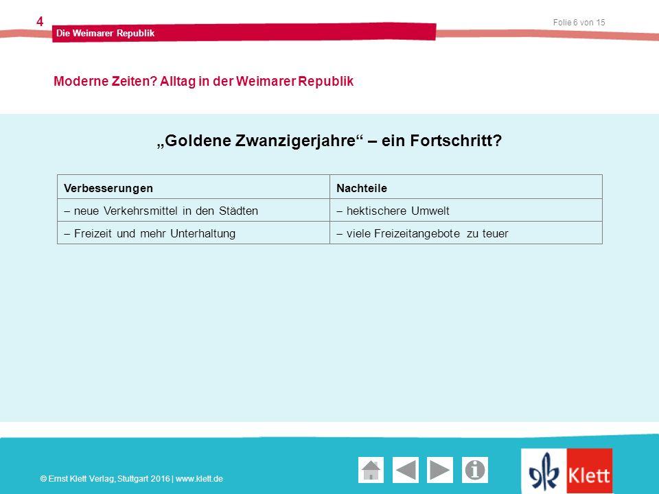 Geschichte und Geschehen Oberstufe Folie 6 von 15 Die Weimarer Republik 4 Moderne Zeiten.