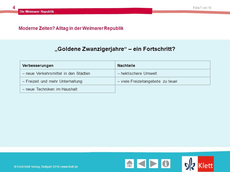 Geschichte und Geschehen Oberstufe Folie 7 von 15 Die Weimarer Republik 4 Moderne Zeiten.