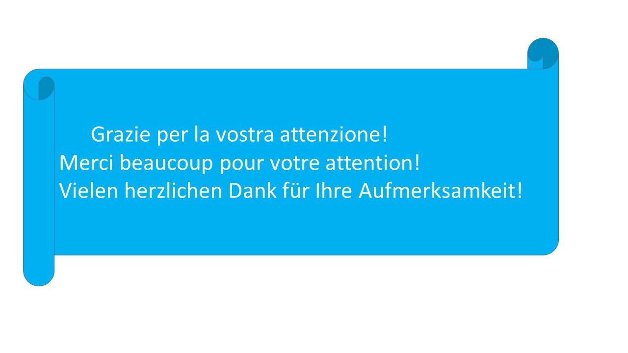 Grazie per la vostra attenzione. Merci beaucoup pour votre attention.