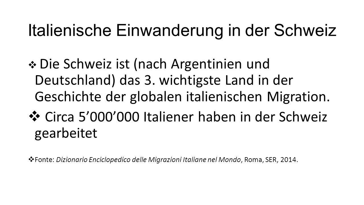 Comunità straniere in Svizzera (2014)  Italia: 306'414  Germania: 298'027  Portogallo: 262'748 o Fonte: Ufficio federale di Statistica, Die Bevölkerung der Schweiz (2014), 2015.