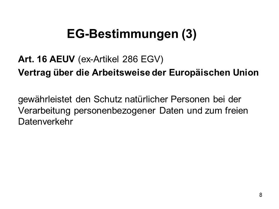 EG-Bestimmungen (3) Art.