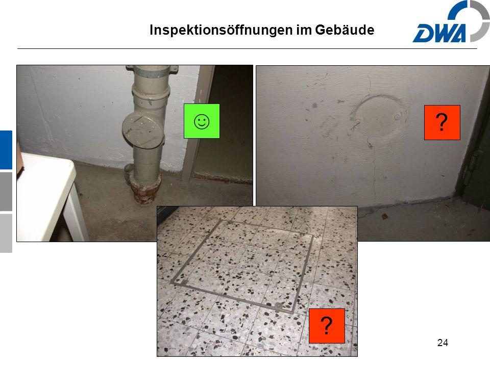 24 Inspektionsöffnungen im Gebäude ☺