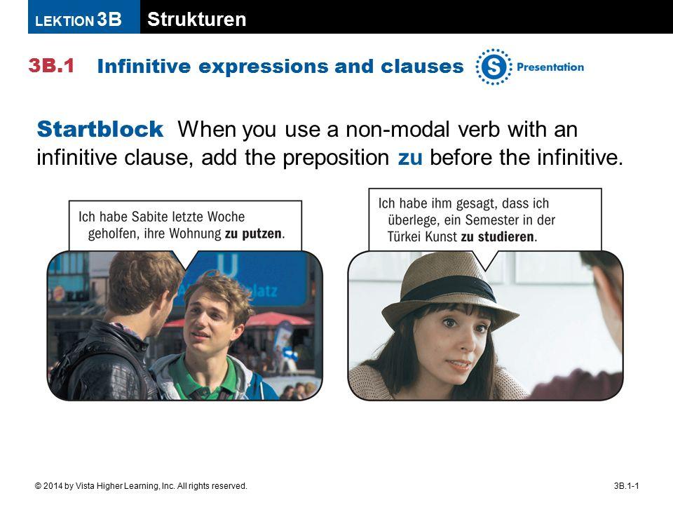 Strukturen 3B.1 LEKTION 3B 3B.1-2© 2014 by Vista Higher Learning, Inc.