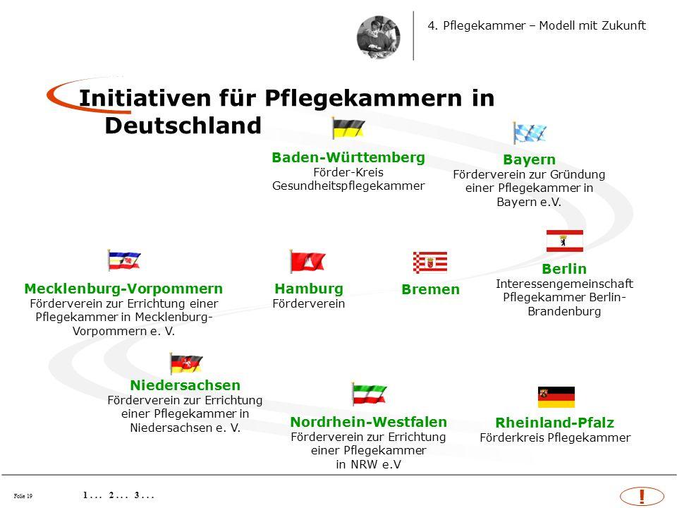 Folie 19 Initiativen für Pflegekammern in Deutschland 1...