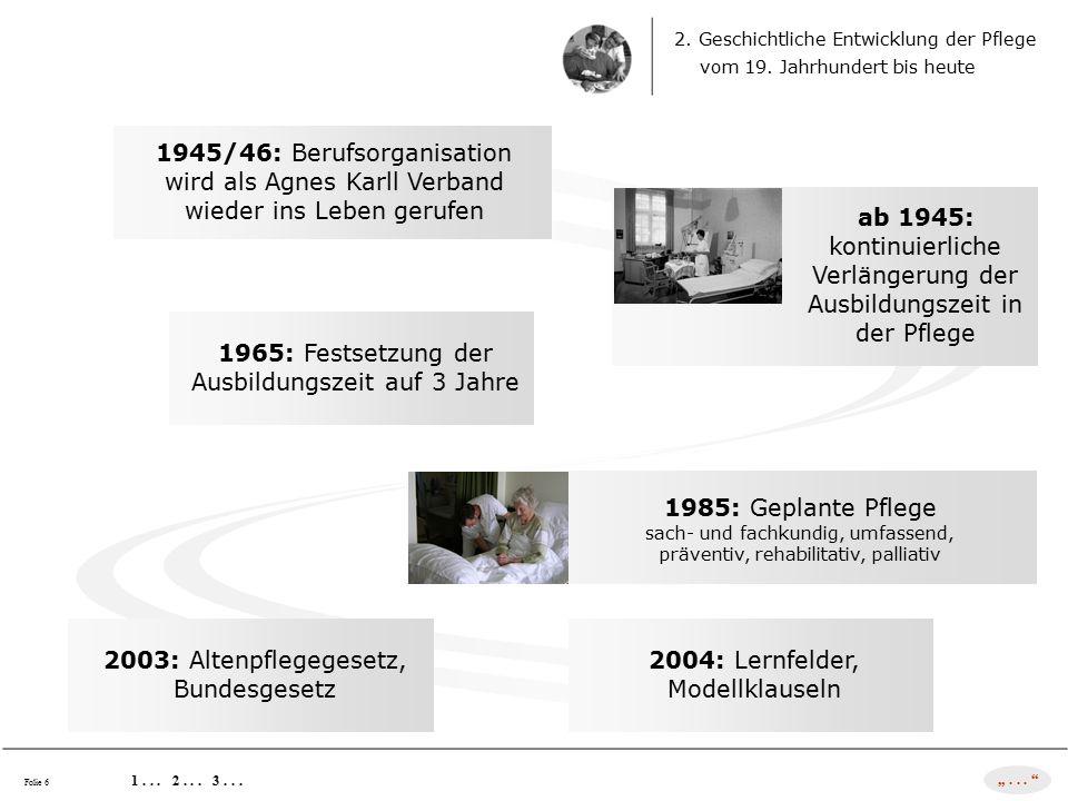 3. Strukturen der deutschen Pflegelandschaft heute 1... 2... 3... Folie 7 Verbandsvielfalt !