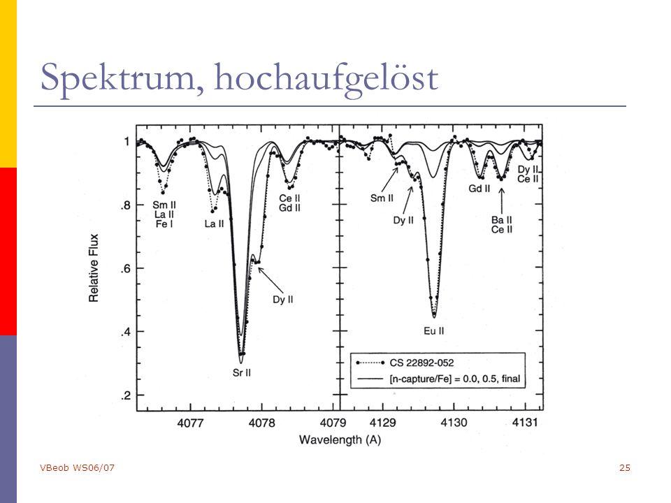 VBeob WS06/0725 Spektrum, hochaufgelöst