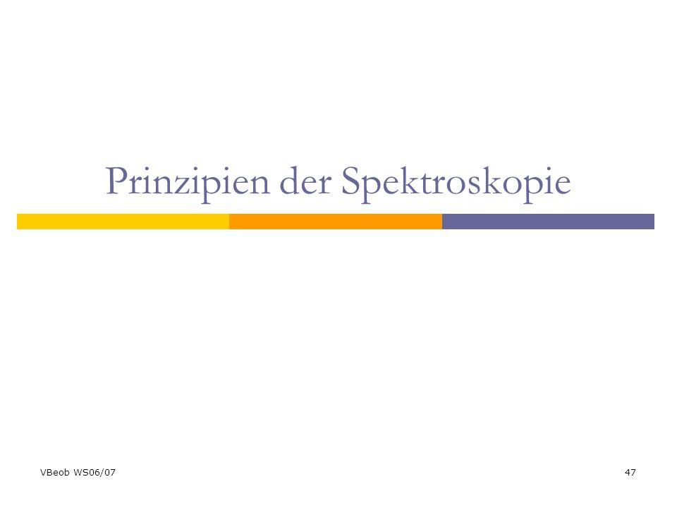 VBeob WS06/0747 Prinzipien der Spektroskopie