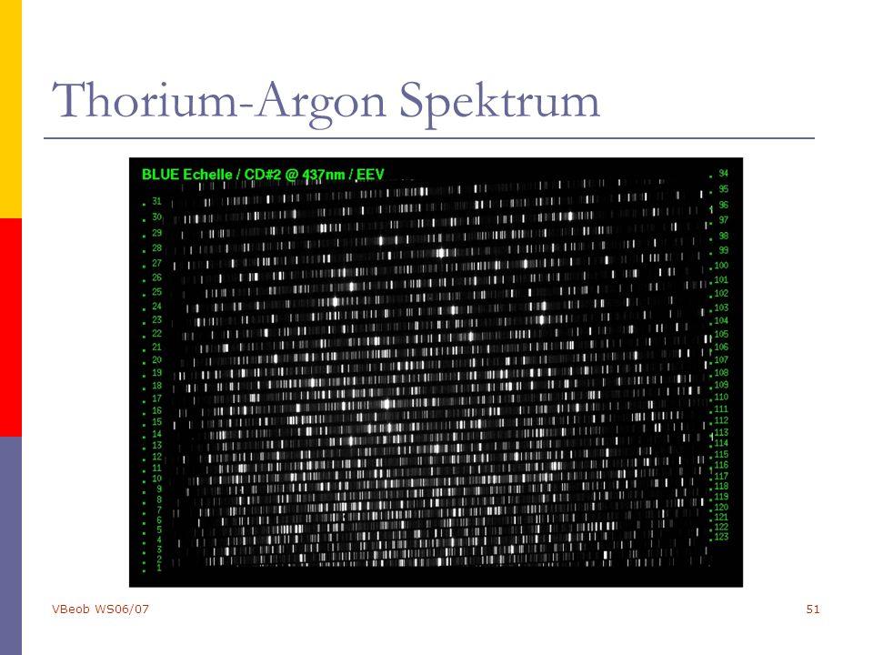 VBeob WS06/0751 Thorium-Argon Spektrum