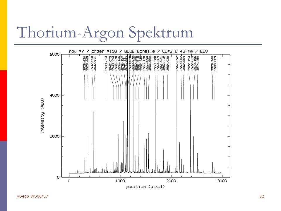 VBeob WS06/0752 Thorium-Argon Spektrum