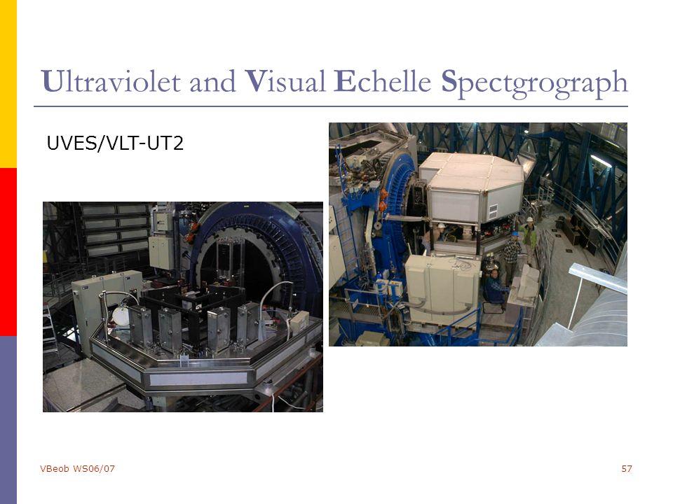VBeob WS06/0757 Ultraviolet and Visual Echelle Spectgrograph UVES/VLT-UT2