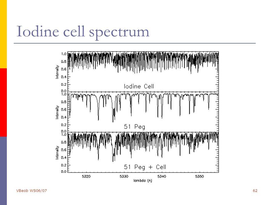 VBeob WS06/0762 Iodine cell spectrum