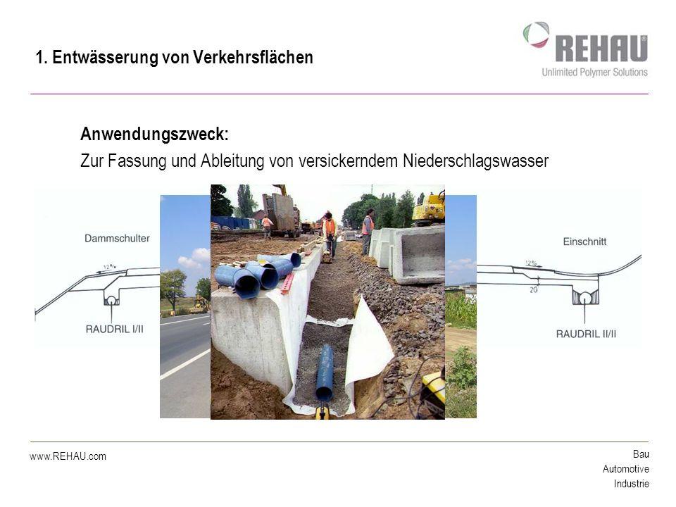 Bau Automotive Industrie www.REHAU.com Viel Erfolg mit innovativen Produkten von REHAU !