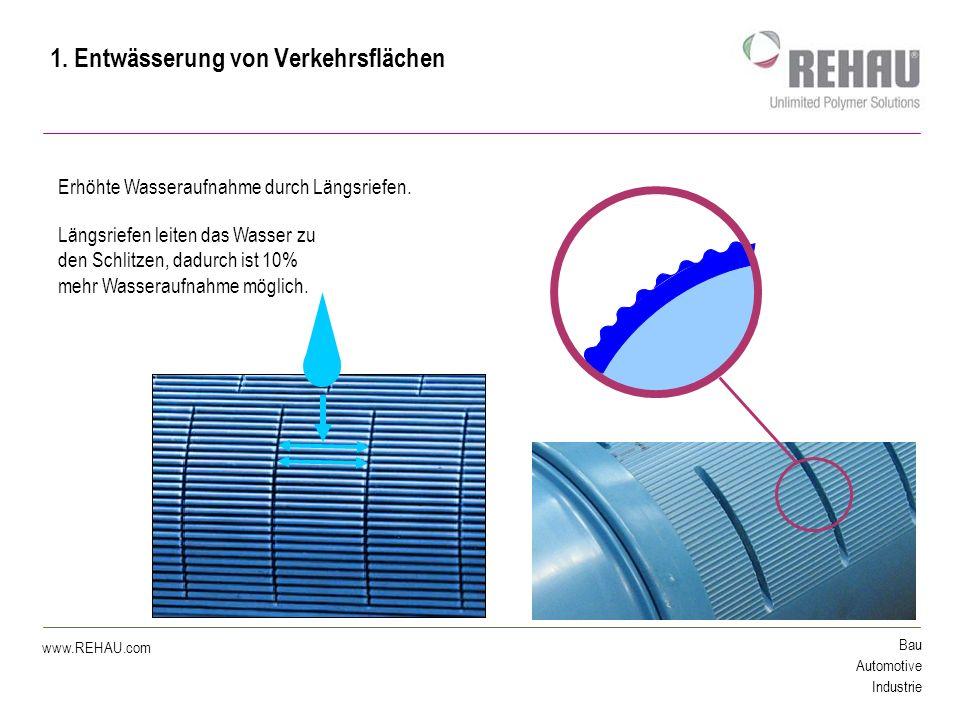 Bau Automotive Industrie www.REHAU.com RAUDRIL RAIL PP Gerieft Ringsteifigkeit SN8 (SN10) DN 160 / 200 / 250 Vollwandaufbau aus PP alle bekannten Vorteile von RAUDRIL Rail PP und zusätzlich eine Längsriefung: - Grundrohr nach EN 1852 (Tunnelentwässerungsichtlinie AT) - sehr robust - 100 Jahre Nutzungsdauer - sehr hohes statisches Vermögen - seit Jahren im Einsatz 1.
