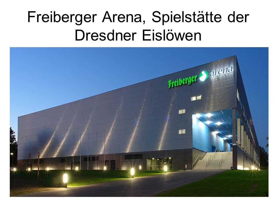 Freiberger Arena, Spielstätte der Dresdner Eislöwen