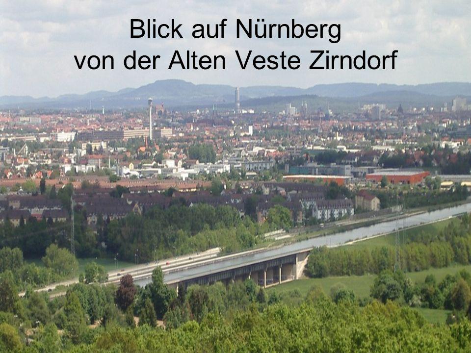 Blick auf Nürnberg von der Alten Veste Zirndorf
