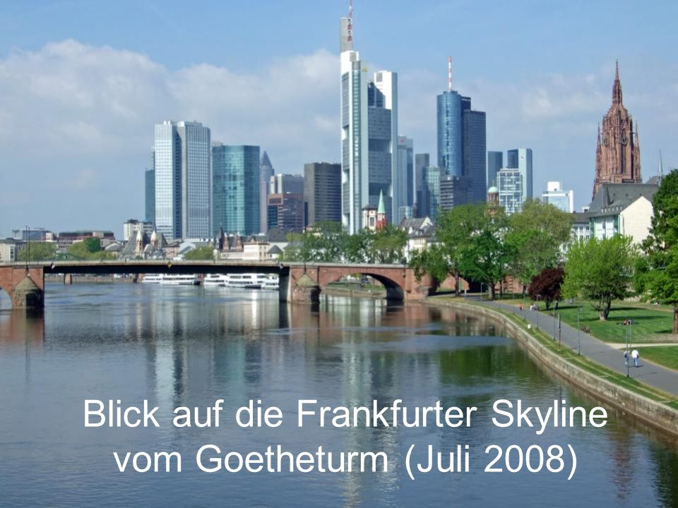 Blick auf die Frankfurter Skyline vom Goetheturm (Juli 2008)