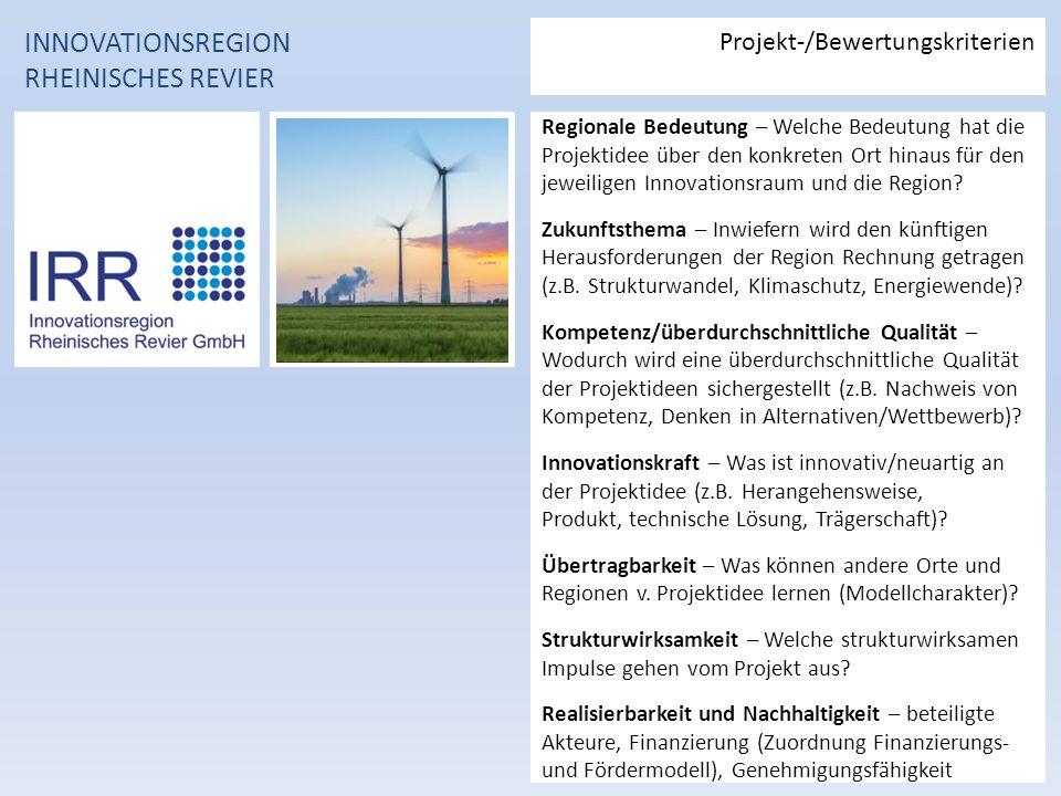 Regionale Bedeutung – Welche Bedeutung hat die Projektidee über den konkreten Ort hinaus für den jeweiligen Innovationsraum und die Region.