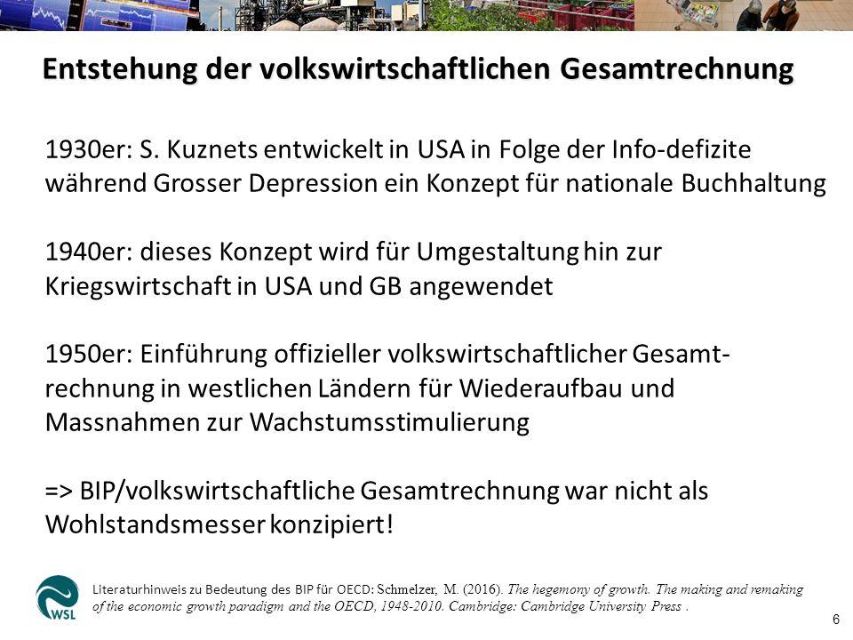 Entstehung der volkswirtschaftlichen Gesamtrechnung 6 1930er: S.