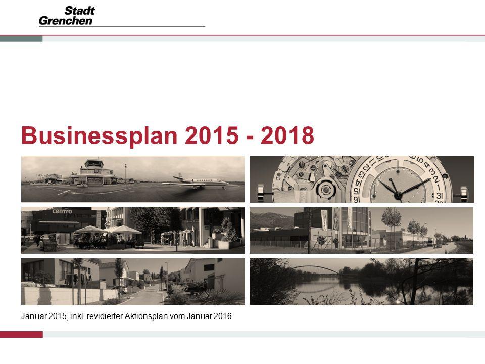 Businessplan 2015 - 2018 Januar 2015, inkl. revidierter Aktionsplan vom Januar 2016