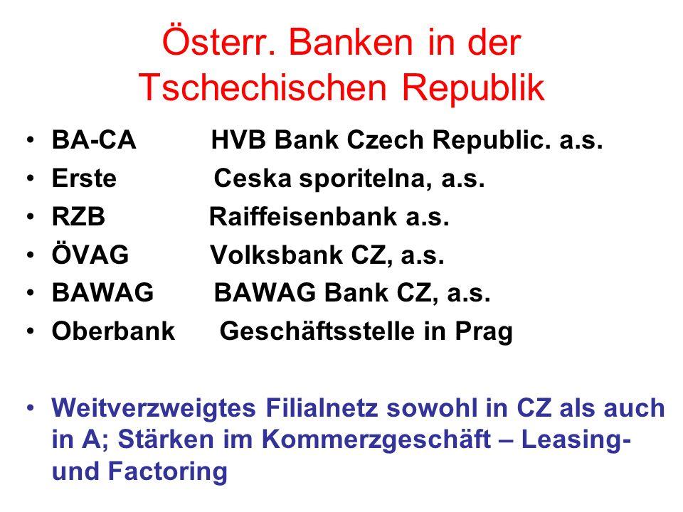 Gemeinsamkeiten/Stärken/Kundenvorteile Führende Netzwerkbanken in Österreich sowie in Zentral- und Osteuropa Globale Präsenz in allen wichtigen Finanzplätzen der Welt Internationales und lokales Know-how Als Universalbanken umfassende Produktpalette kombiniert mit Spezialleistungen von Tochterbanken (Leasing, Factoring, Investmentbanking, etc.) Bedeutende Primärmittel als Refinanzierungsbasis u.a.