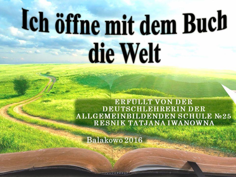 Der beste Helfer ist das Buch.Wie groß ist unsere Welt.