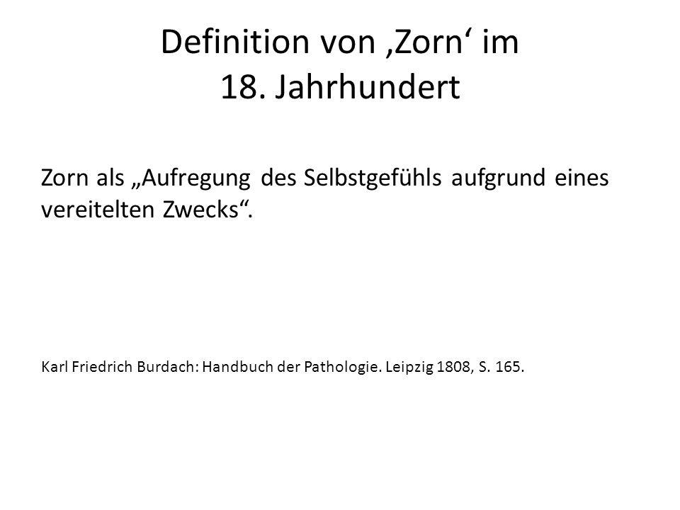 Definition von 'Zorn' im 18.