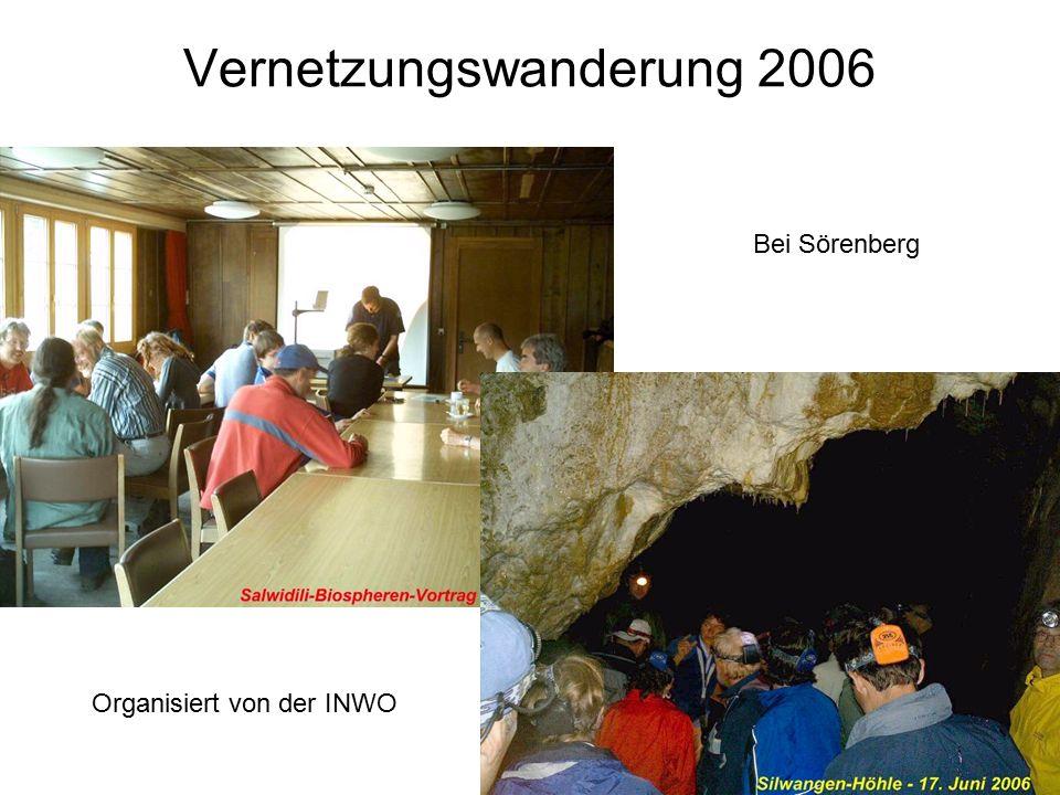 Organisiert von der INWO Vernetzungswanderung 2006 Bei Sörenberg