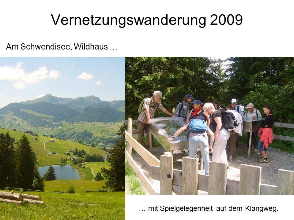 Vernetzungswanderung 2009 Am Schwendisee, Wildhaus … … mit Spielgelegenheit auf dem Klangweg.