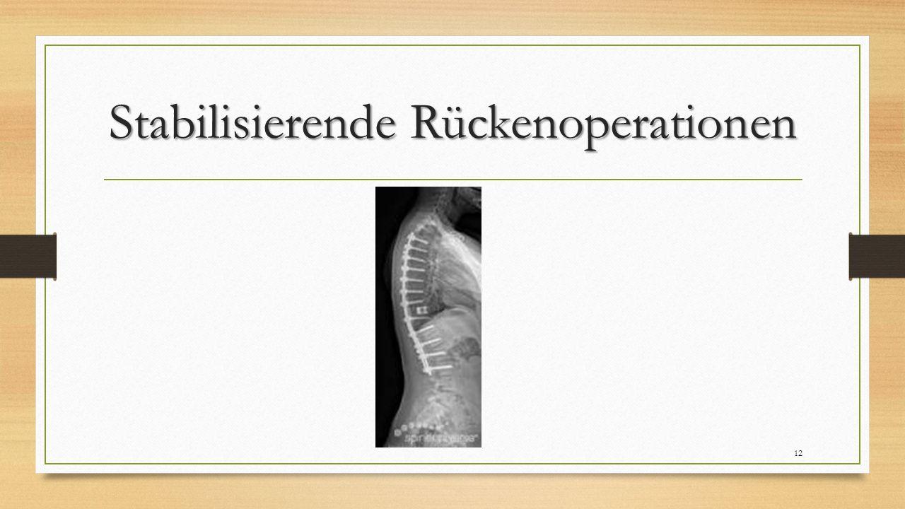 Stabilisierende Rückenoperationen 12