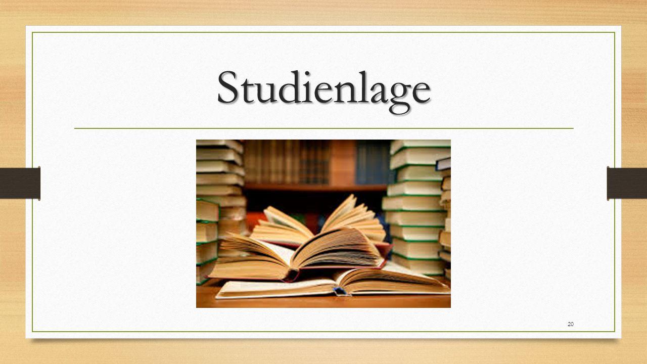 Studienlage 20