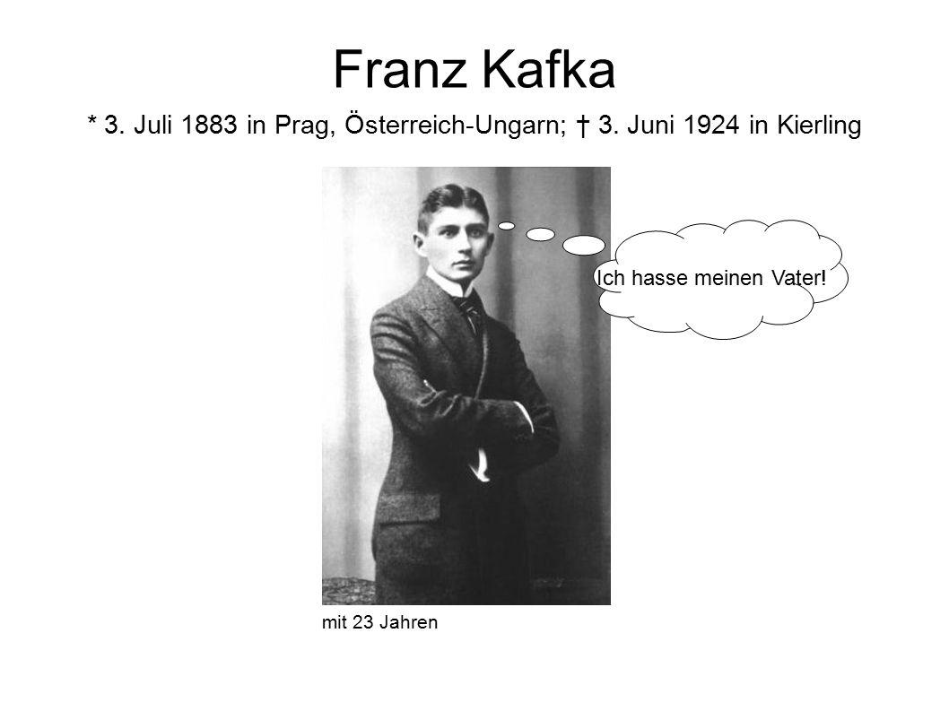 Franz Kafka * 3. Juli 1883 in Prag, Österreich-Ungarn; † 3.